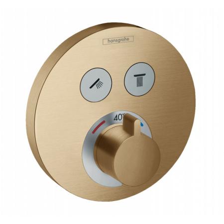 Hansgrohe ShowerSelect S Bateria wannowo-prysznicowa podtynkowa z termostatem brąz szczotkowany 15743140
