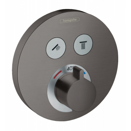 Hansgrohe ShowerSelect S Bateria wannowo-prysznicowa podtynkowa z termostatem czarny chrom szczotkowany 15743340