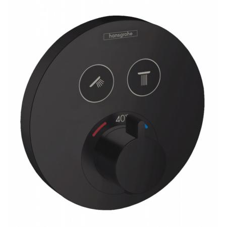 Hansgrohe ShowerSelect S Bateria wannowo-prysznicowa podtynkowa z termostatem czarny mat 15743670