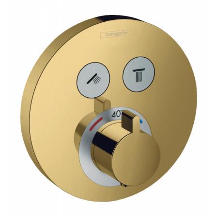 Hansgrohe ShowerSelect S Bateria wannowo-prysznicowa podtynkowa z termostatem złoty optyczny polerowany 15743990