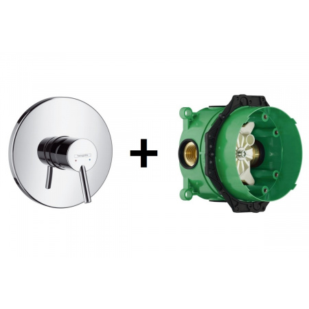 Hansgrohe Talis S Zestaw Bateria wannowo-prysznicowa podtynkowa z zestawem podtynkowym iBox chrom 32675000+01800180
