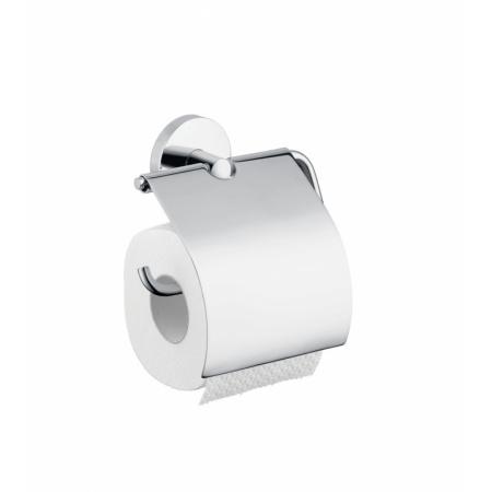 Hansgrohe Akcesoria Uchwyt na papier toaletowy z pokrywą, chrom 40523000