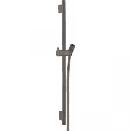 Hansgrohe Unica'S Puro Drążek prysznicowy 65 cm czarny chrom szczotkowany 28632340