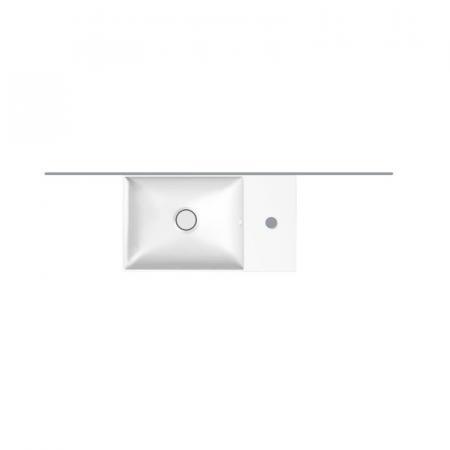 Hatria Bahia 13 Umywalka wisząca 45x25 cm z otworem na baterię z przelewem biała BH0450250011TS0