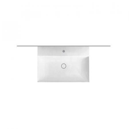 Hatria Bahia 13 Umywalka wisząca 50x36,5 cm z otworem na baterię z przelewem biała BH0500365011TS0
