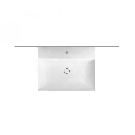 Hatria Bahia 13 Umywalka wisząca 50x46,5 cm z otworem na baterię z przelewem biała BH0500465011TS0