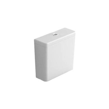 Hatria Daytime Evo Zbiornik WC kompaktowy 39x15x37 cm bez mechanizmu spłukującego dopływ z dołu, biały YXGS