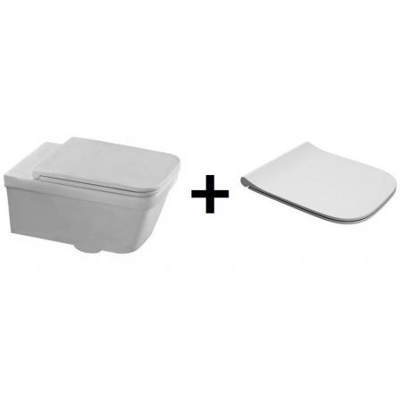 Hatria Erika Pro Q Zestaw Toaleta WC podwieszana 53x34,5 cm z deską sedesową wolnoopadającą, biały YXJ0+Y1FU