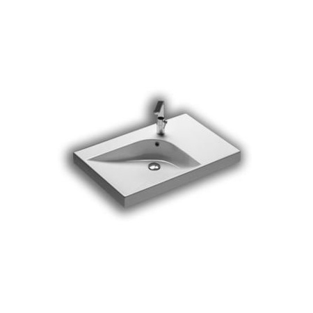 Hatria Grandangolo Umywalka wisząca 75x50x17 cm z otworem na baterię, biała YXF9