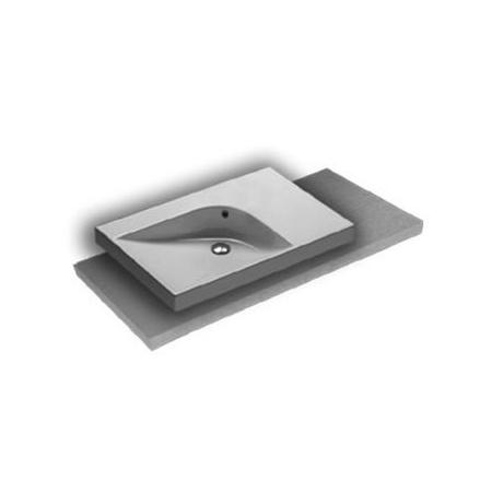 Hatria Grandangolo Umywalka nablatowa 75x50x17 cm bez otworu na baterię, biała YXNS