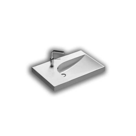 Hatria Grandangolo Umywalka wisząca 75x50x17 cm z otworem na baterię, biała YXF8