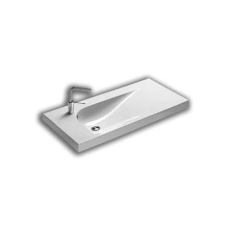 Hatria Grandangolo Umywalka wisząca 100x50x17 cm z otworem na baterię, biała YXF7