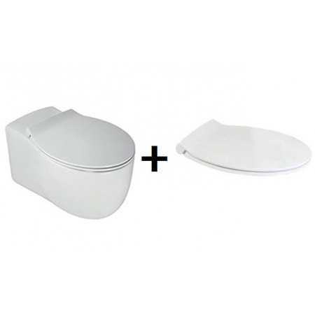 Hatria Le Fiabe Zestaw Toaleta WC podwieszana55,5x36,5 cm z deską sedesową wolnoopadającą, biały Y1AC+YXWW