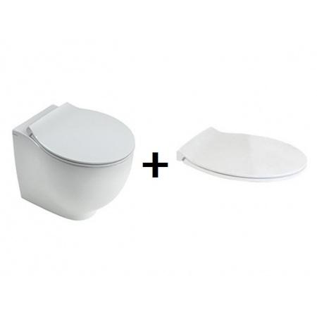 Hatria Le Fiabe Zestaw Toaleta WC stojąca50x36,5cm z deską sedesową wolnoopadającą, biały Y1E0+YXWW