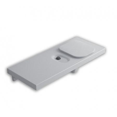 Hatria G-Full Wielofunkcyjna ławka wisząca z toaletą WC 120x50 cm prawa, biała YXJU
