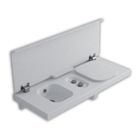 Hatria G-Full Wielofunkcyjna ławka wisząca z toaletą WC i bidetem 120x50 cm prawa, biała YXH2