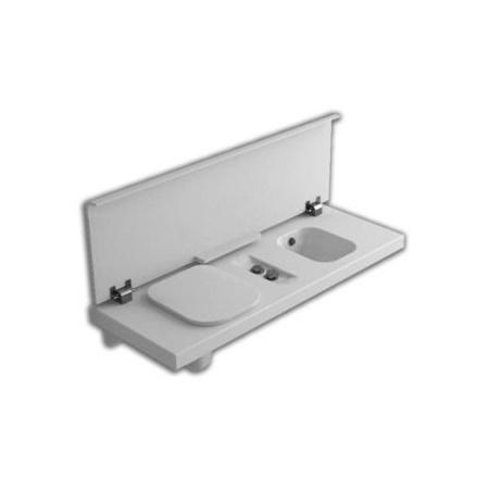 Hatria G-Full Wielofunkcyjna ławka wisząca z toaletą WC i bidetem 141,5x50 cm lewa, biała YXH1