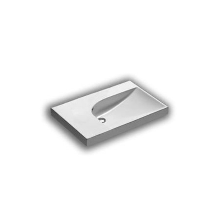 Hatria Grandangolo Umywalka wisząca 75x50x17 cm bez otworu na baterię, biała Y0YD