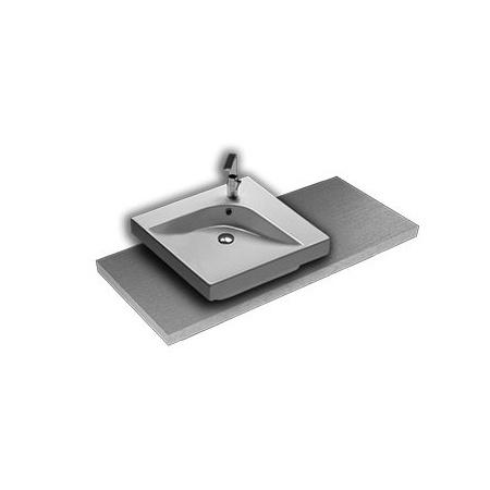 Hatria Grandangolo Umywalka nablatowa 50x50x17 cm z otworem na baterię, biała YXES