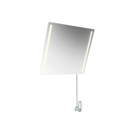 Hewi 801 Lustro ścienne uchylne z oświetleniem LED 60x54 cm białe 801.01.40098