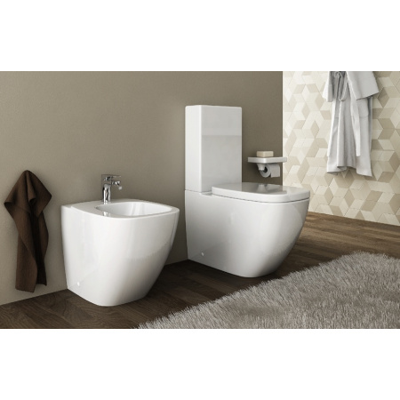 Hidra Dial Muszla klozetowa miska WC kompaktowa 70x38x42 cm, biała DL12