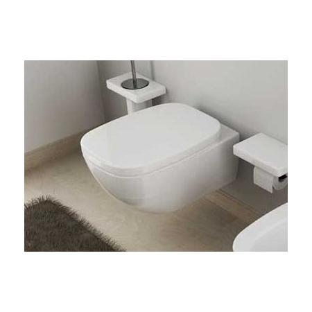 Hidra Dial Muszla klozetowa miska WC podwieszana 55x38x42 cm, biała/czarna DLW10012