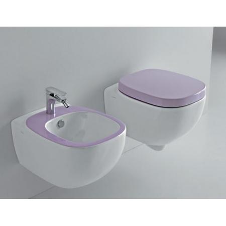Hidra Dial Muszla klozetowa miska WC podwieszana 55x38x42 cm, biała/fioletowa DLW10016