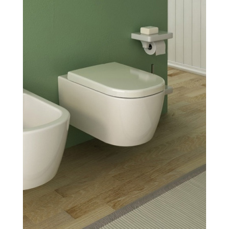 Hidra Faster Muszla klozetowa miska WC podwieszana owalna 52,5x36,5xh36 cm, biały FAW10