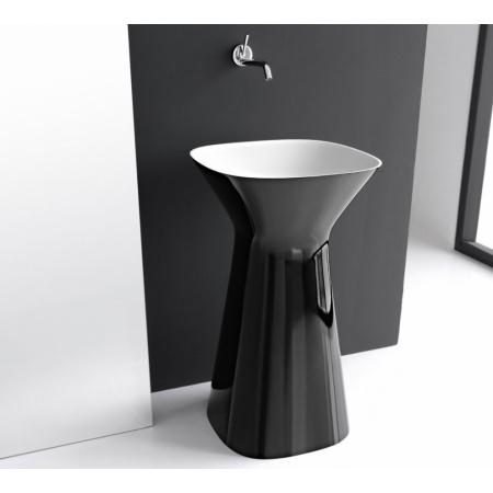 Hidra Mister Umywalka wolnostojąca 49x49x85 cm, czarna/biała MR15012
