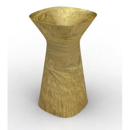 Hidra Mister Umywalka wolnostojąca 49x49x85 cm, złota MR15015