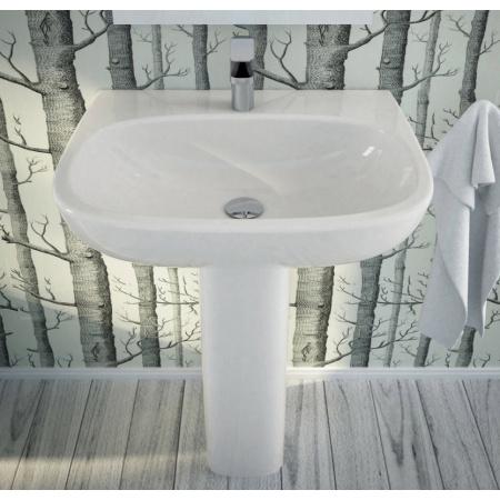 Hidra My Umywalka wisząca 65x50x19,5 cm, biała M15