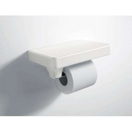 Hidra Piano Uchwyt na papier toaletowy 24,5x15x8,5 cm, biały PI05