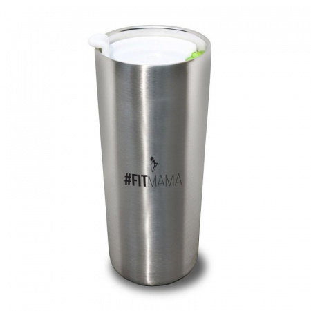 HPBA Kubek termiczny 7,5x7,5x17 cm, srebrny KTFM001