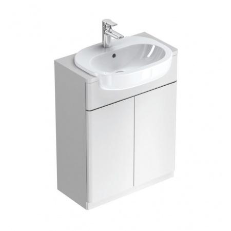Ideal Standard Active Umywalka półblatowa 55x40 cm, z otworem na baterie, z przelewem, biała T055001