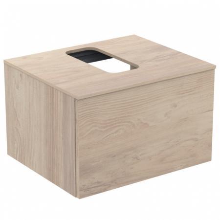Ideal Standard Adapto Szafka podumywalkowa ścienna 60x50 cm, drewno ciemne U8594FW