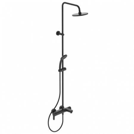 Ideal Standard Cerafine O Zestaw prysznicowy natynkowy z deszczownicą czarny mat BC749XG