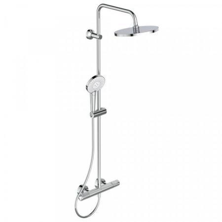 Ideal Standard Ceratherm T100 Zestaw prysznicowy natynkowy z termostatem i deszczownicą chrom A7241AA