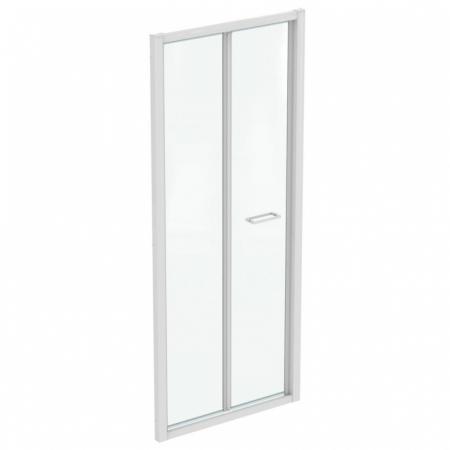 Ideal Standard Connect 2 Drzwi składane 85x195,5 cm profile biały mat szkło przezroczyste K969201