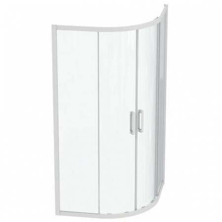 Ideal Standard Connect 2 Kabina półokrągła 100x100x195,5 cm profile biały mat szkło przezroczyste K966201