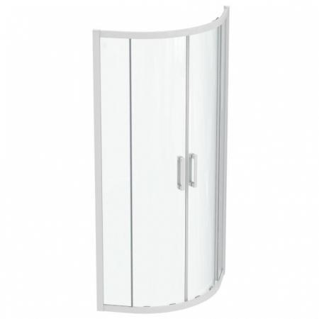 Ideal Standard Connect 2 Kabina półokrągła 80x80x195,5 cm profile biały mat szkło przezroczyste K966001