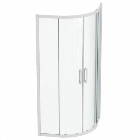 Ideal Standard Connect 2 Kabina półokrągła 90x90x195,5 cm profile biały mat szkło przezroczyste K966101