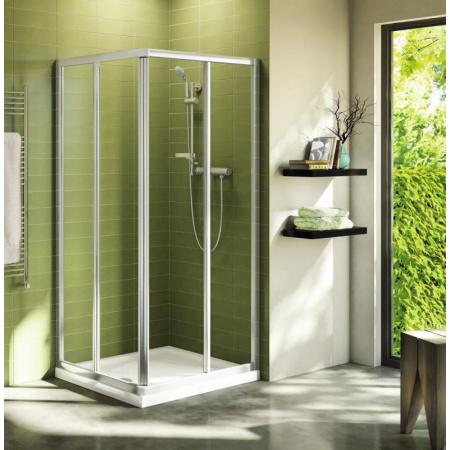 Ideal Standard Connect Kabina prysznicowa z wejściem narożnym 80 cm, profile srebrne, szkło przeźroczyste T9804EO