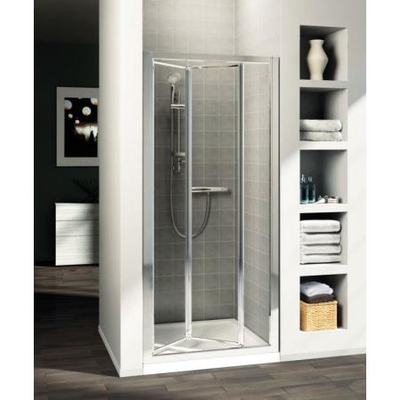 Ideal Standard Connect Drzwi prysznicowe składane 85 cm, profile srebrne, szkło mrożone T9861EO