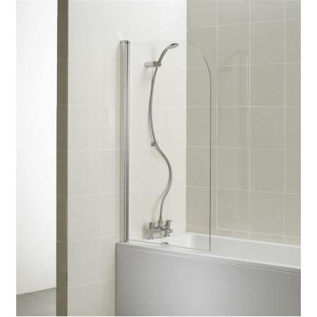 Ideal Standard Connect Ekran do wanny zaokrąglony 80x140 cm, profil srebrny, szkło przeźroczyste T9924EO