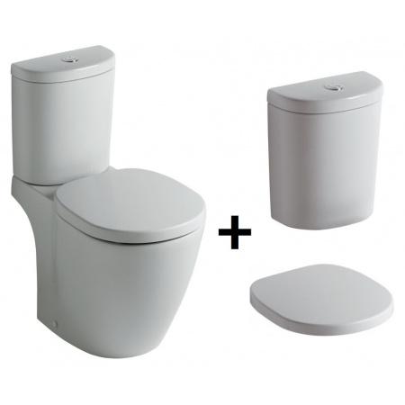 Ideal Standard Connect Kompakt WC ze zbiornikiem i deską wolnoopadającą, biały E803601+E786101+E712701