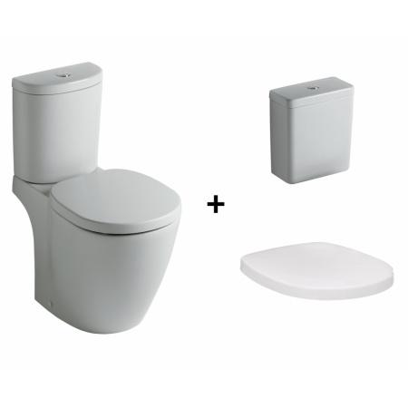 Ideal Standard Connect Kompakt WC ze zbiornikiem i deską wolnoopadającą, biały E803601+E797001+E712701