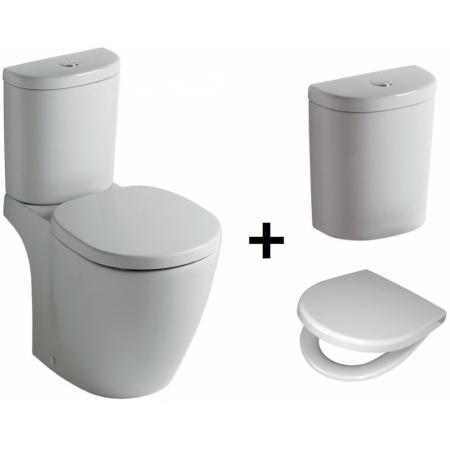Ideal Standard Connect Kompakt WC ze zbiornikiem i deską wolnoopadającą, biały E803601+E785601+E712701
