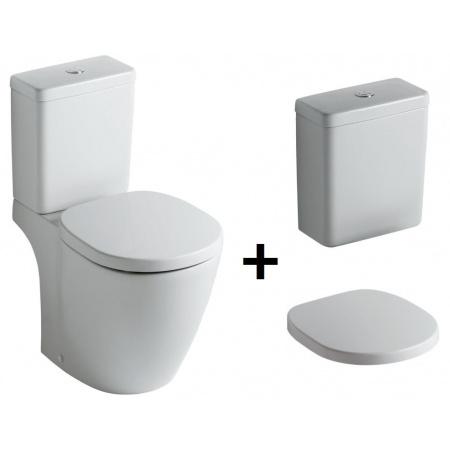 Ideal Standard Connect Kompakt WC ze zbiornikiem i deską wolnoopadającą, biały E803601+E797101+E712701