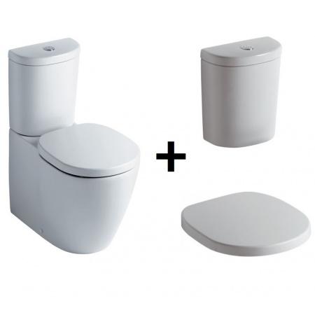 Ideal Standard Connect Kompakt WC ze zbiornikiem i deską wolnoopadającą, biały E803701+E785601+E712701