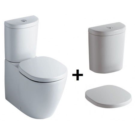 Ideal Standard Connect Kompakt WC ze zbiornikiem i deską wolnoopadającą, biały E803701+E786101+E712701